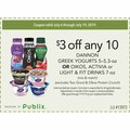 $3 off any 10 DANNON GREEK YOGURTS 5–5.3-oz OR OIKOS, ACTIVIA or LIGHT & FIT DRINKS 7-oz