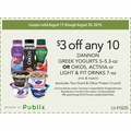 any 10 DANNON GREEK YOGURTS 5–5.3-oz OR OIKOS, ACTIVIA or LIGHT & FIT DRINKS 7-oz