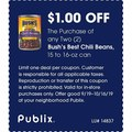 The Purchase of any Two (2) Bush's Best Chili Beans, 15 to 16-oz can