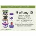 any 10 DANNON OIKOS or LIGHT & FIT GREEK YOGURTS 5–5.3-oz or LIGHT & FIT DRINKS 7-oz