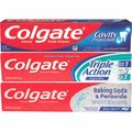 Colgate Triple Action, Cavity Protection or Baking Soda & Peroxide Whitening Toothpaste 4 oz.