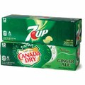 12-Pack Canada Dry, 7UP, or A&W