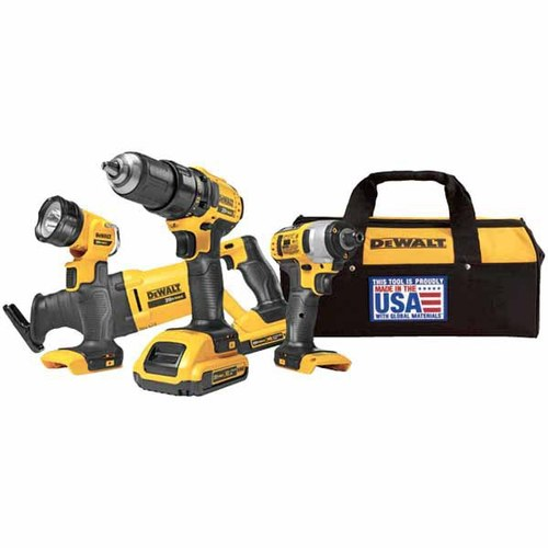 DEWALT® 4-Tool 20-Volt MAX* Lithium Ion Cordless Combo Kit with Soft Case