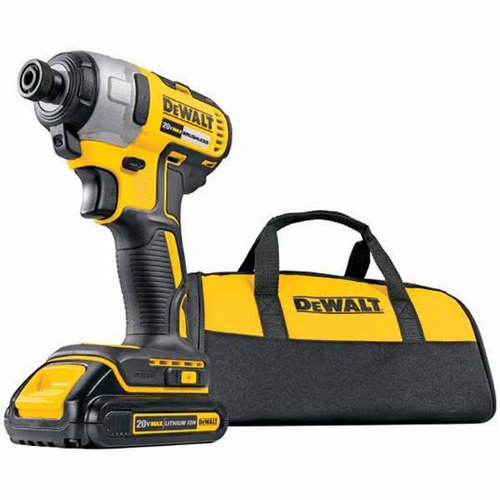 DEWALT® 20-Volt MAX* Lithium Ion 1/4-in Brushless Cordless Impact Driver with Soft Case