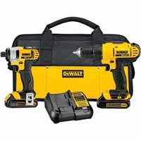 DEWALT® 2-Tool 20-Volt MAX* Lithium Ion Cordless Combo Kit with Soft Case