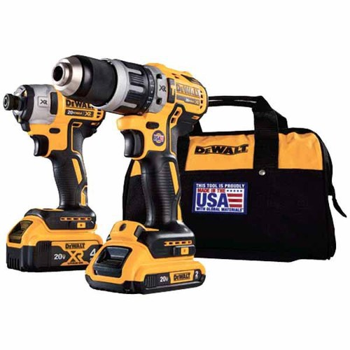 DEWALT® 2-Tool 20-Volt MAX* XR® Lithium Ion Brushless Cordless Combo Kit with Soft Case