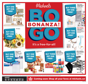 Michaels Weekly Ad Front Cover