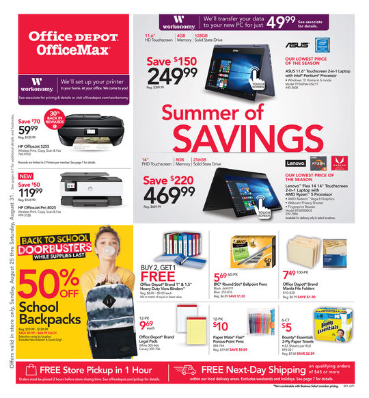 Office Depot Weekly Ad – low prices on office supplies